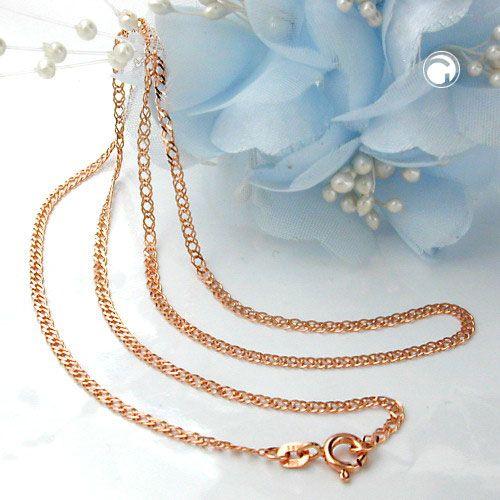 Halsband med marinlänk 14K Rött Guld