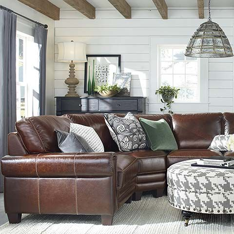 L-Shaped Sectional I like the shape just not the leather.