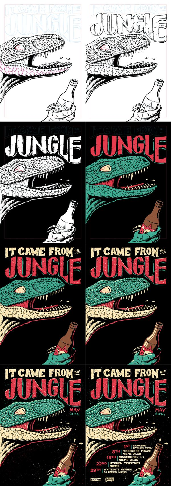 It Came From The Jungle - May by Ian Jepson, via Behance