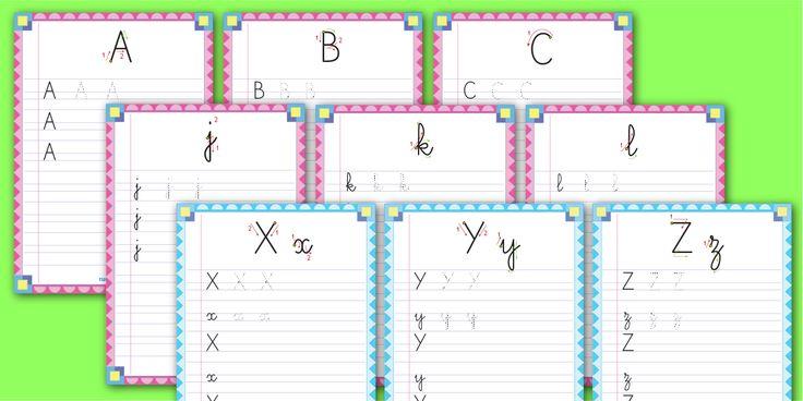PDF Écriture à la carte Modèle A Roman Maternelle MS GS: Apprendre à écrire l'alphabet en Capitales et minuscules cursives - Police d'écriture A Roman.