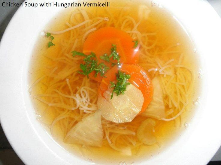 Chicken vermicelli Soup at Savoury and Sweet Restaurant 3770 Bridgewater Street Niagara Falls Ontario