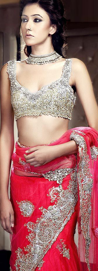 KISNEEL by Pam Mehta http://www.KisneelbByPam.com/ #saree #indian wedding #fashion #style #bride #bridal party #brides maids #gorgeous #sexy #vibrant #elegant #blouse #choli #jewelry #bangles #lehenga #desi style #shaadi #designer #outfit #inspired #beautiful #must-have's #india #bollywood #south asain