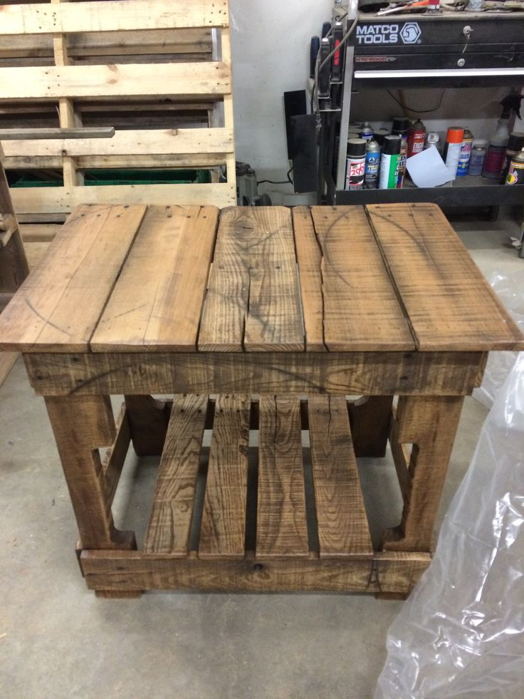 pallet board night stand our creations pinterest