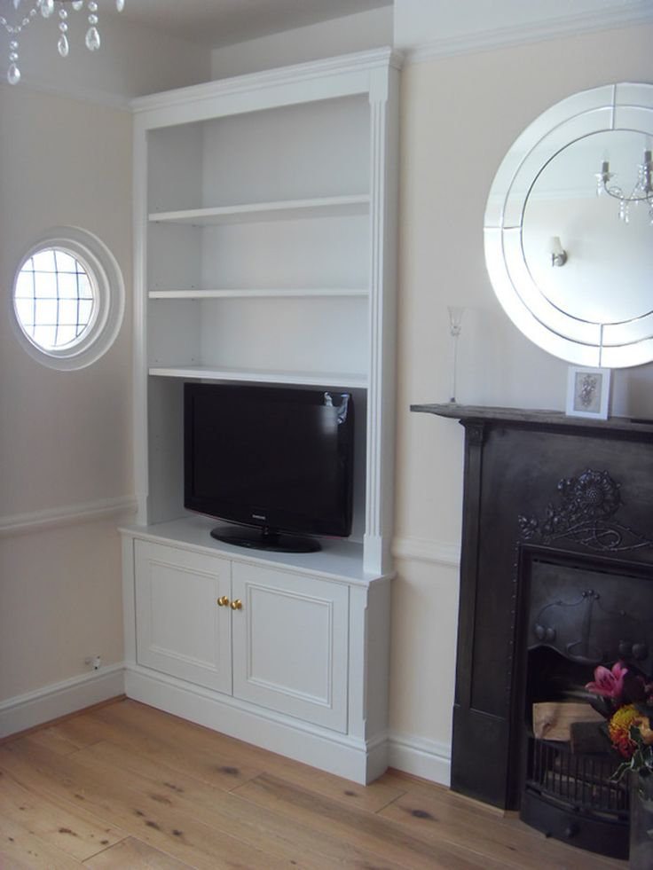 Built In Cabinet And Shelves Alcove