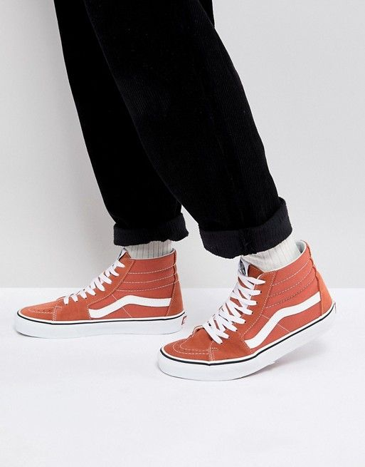 d8a079eb43 Vans Sk8-Hi Sneakers In Orange VA38GEQSP