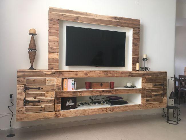 My Own Living Room Meuble Meuble Tele En Palette Idee Meuble Tv