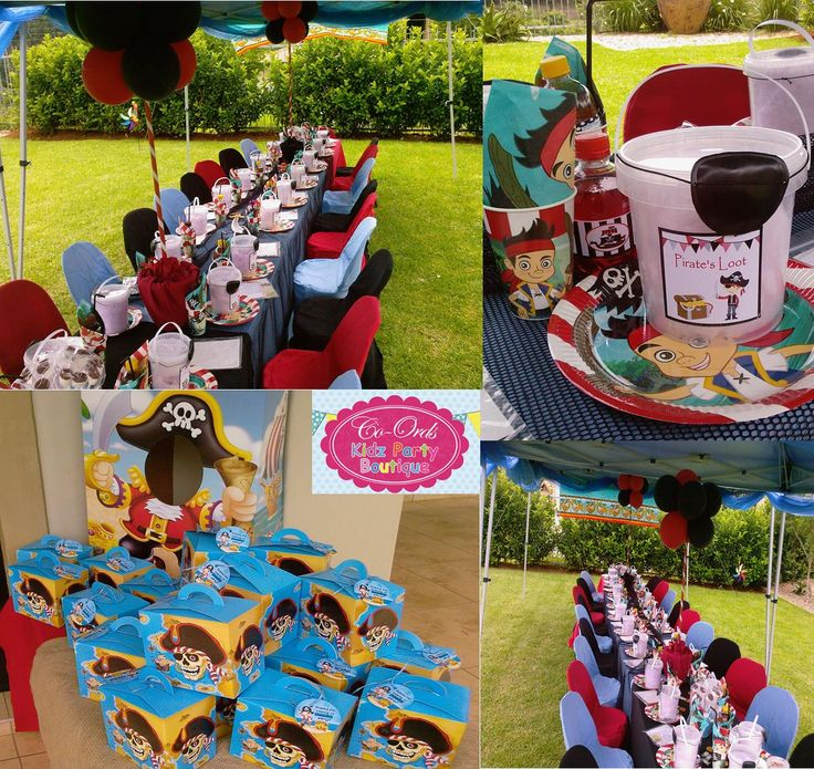 Pirate themed kiddies party set-up by Co-Ords Kidz Party Boutique