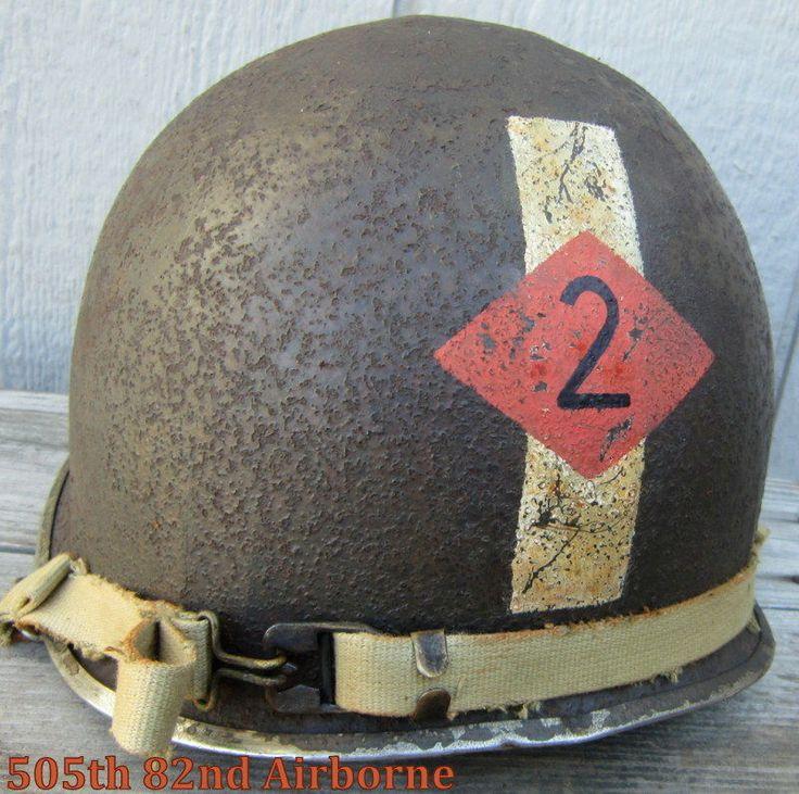 WWII M-1 Helmet 2nd Ranger Bn. Captain Front Seam   WWII ...