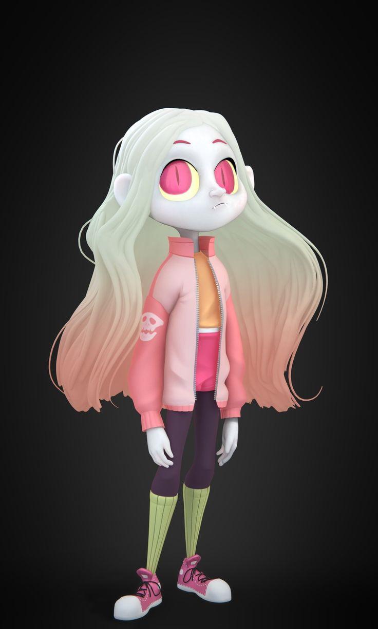 Vampire Girl, Ocean Daniel on ArtStation at https://www.artstation.com/artwork/5GnlW