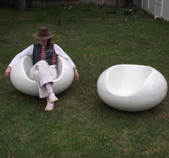 Eero Aarnio Pastil Chairs 1968 Set of 2 Floating by judygovintage, $1400.00