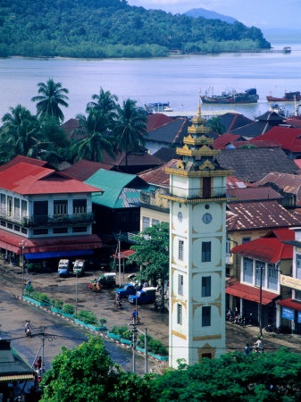 Rooftops of Myeik, Myanmar