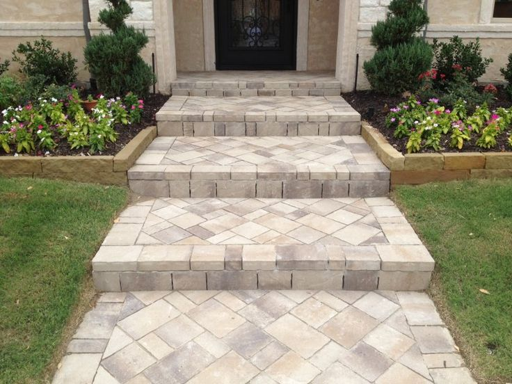 17 Best Ideas About Paver Walkway On Pinterest