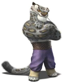 Tai Lung, a villain character from 2008 computer-animated feature film Kung Fu Panda. He was a snow leopard with supernatural Kung Fu abilities. His signature move was the nerve touch, where with one hit, he can paralyze his foe.