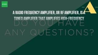 What Is The Use Of RF Amplifier?