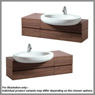 Laufen Il Bagno Alessi One Basin Unit 120cm - For Semi Recessed Basin (24151,24152)