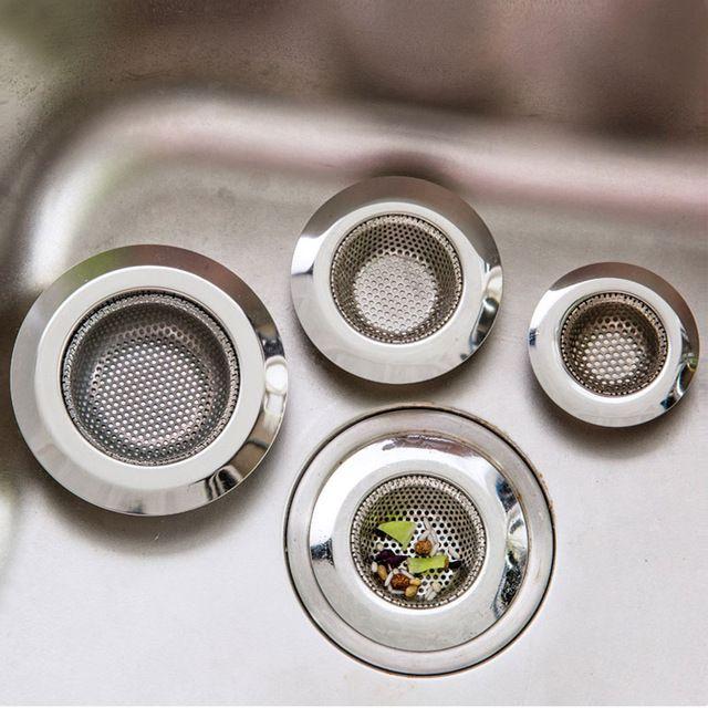 Stainless Steel Sink Strainer Bathroom Shower Floor Drain Plug Trap Hair Catcher Kitchen Sink Filt Kitchen Sink Strainer Bathtub Drain Stainless Steel Bathroom