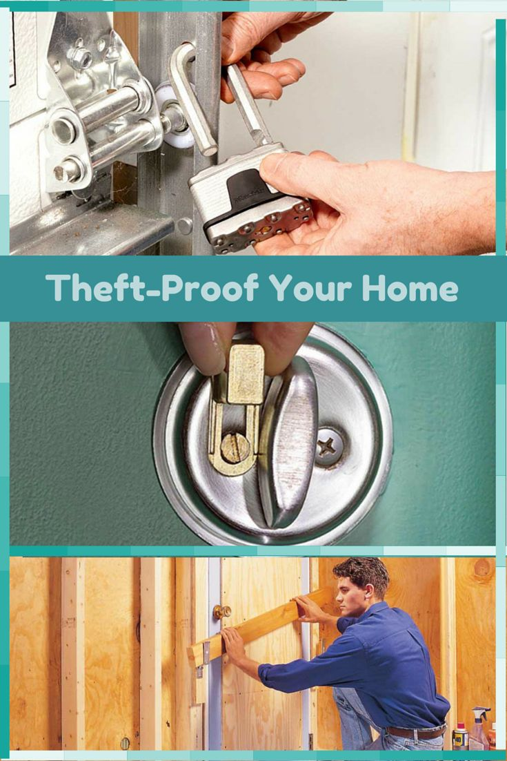 Inexpensive Ways to Theft-Proof Your Home - Tips to make your home more burglar resistant without spending a fortune.