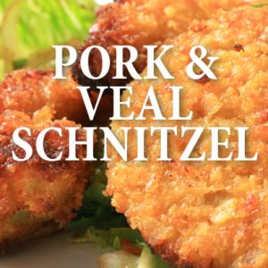 Rachael Ray showed off how you can make Schnitzel as a delicious centerpiece for a dinner that also included Potato Pancakes. Try it Holsteiner-Style!