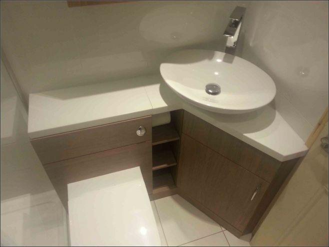 25+ Lovely Corner Bathroom Sink Ideas for Small Bathroom Inspiration