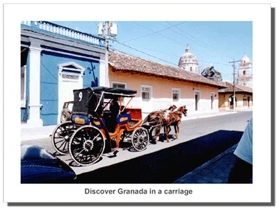 In an old world city, why not try old world transportation? Tour Granada, Nicaragua in a horse carriage.