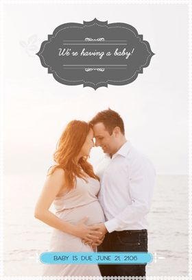 Simply Stated - Free Printable Pregnancy Announcement Template | Greetings Island