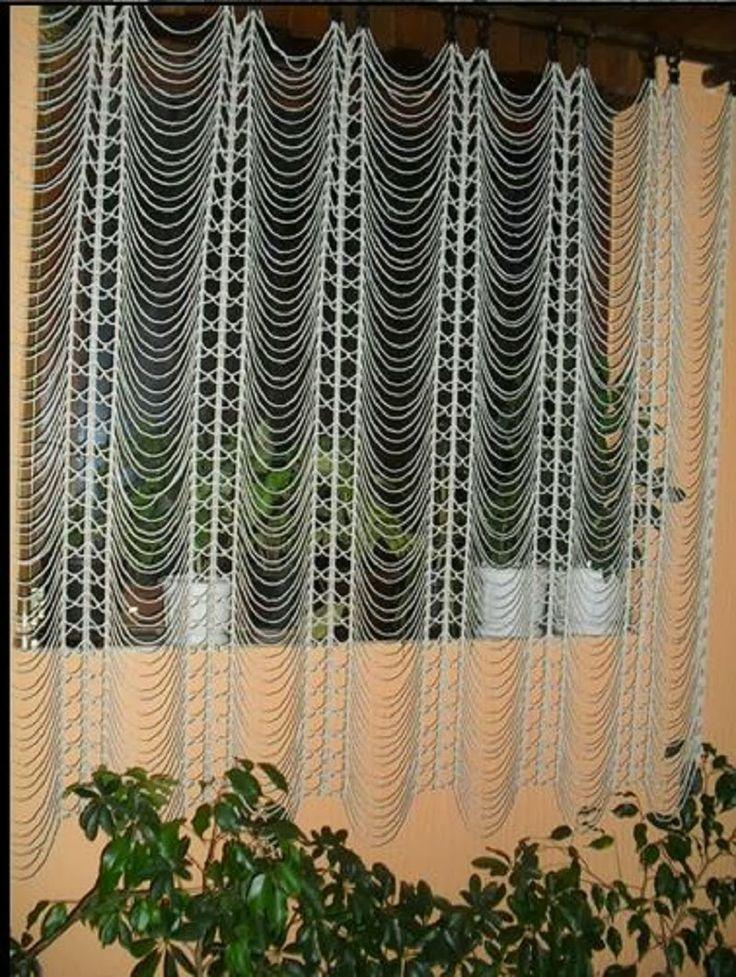 crochelinhasagulhas: Cortina crochet
