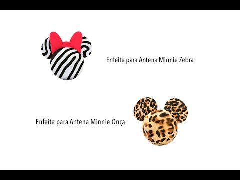 Enfeite para Antena do Carro Minnie Zebra e Onça