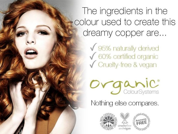 Organic Colour Systems Permanent Hair Colour - 95% naturally derived, 60% certified organic, cruelty free and vegan. #ocsaustralia #organiccolour