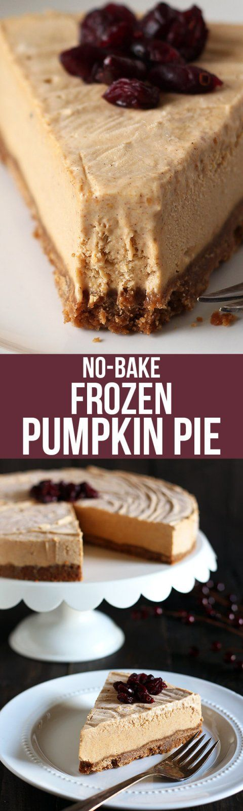 One of the easiest pies ever! This no-bake Frozen Pumpkin Pie is the perfect fall recipe for mild weather, or for when there's no more room in the oven!