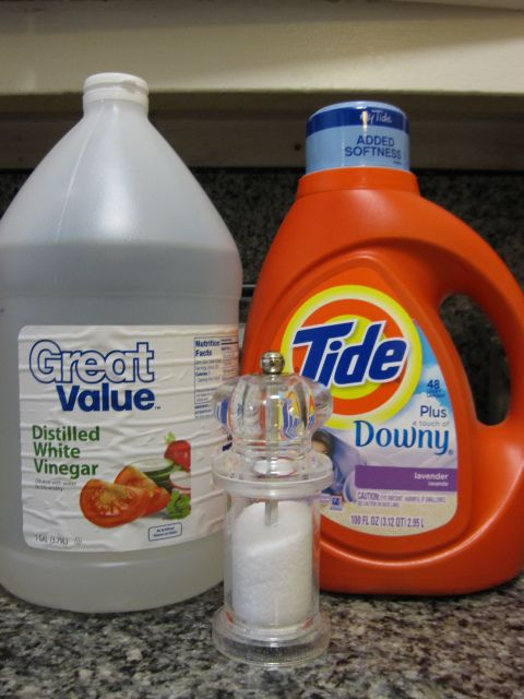 Poison Oak killer: white vinegar, a half cup of salt, and a teaspoon of laundry detergent poured into a spray bottle