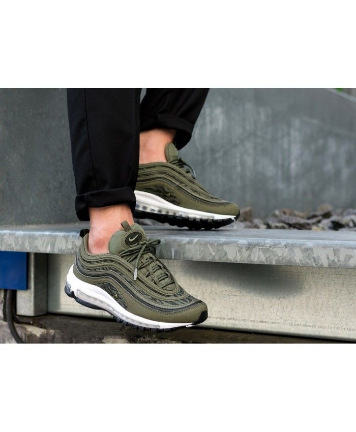 the latest 43df5 12534 Nike Air Max 97 Tiger Camo Medium Olive Sequoia Black Trainers Outlet UK