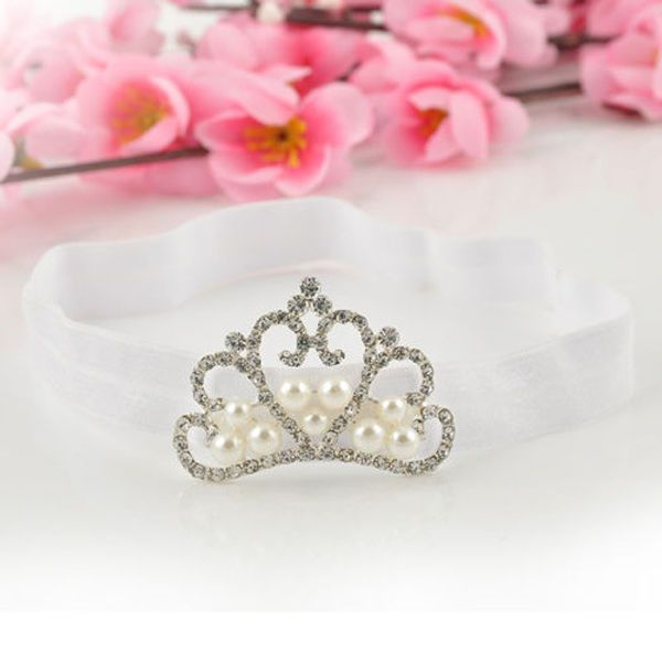 1 PCS Spring Pearl Crown Princess Baby Girl Headband Hair Band Headwear Accessories