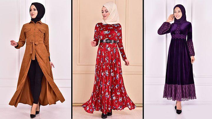 Modamerve 2021 Kadife Tesettur Elbise Modelleri 3 2021 Trend Tesettur Elbise Modelleri 2020 Elbise Elbise Modelleri Elbiseler