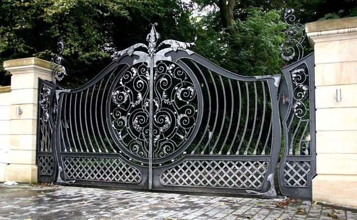 Bespoke Wrought Iron Gates Design | Custom Iron Driveway Gates