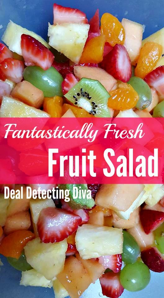 On the hunt for a quick and easy fruit salad? Perfect for the kids and healthy too! make up to THREE days in advance for your next BBQ.