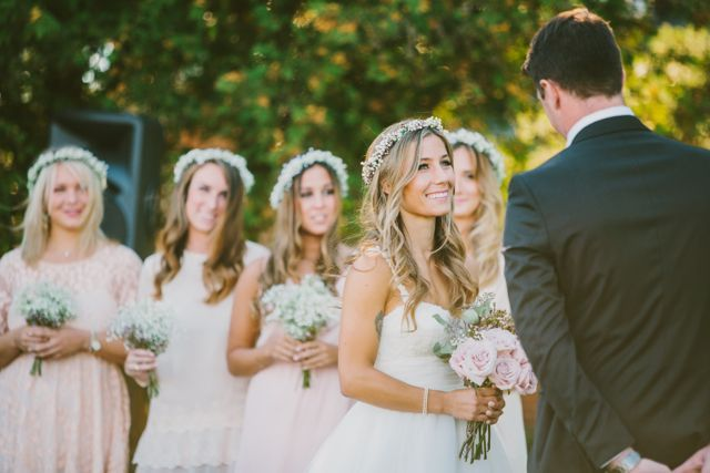Neve and Stratton's ceremony at Cambium Farms.