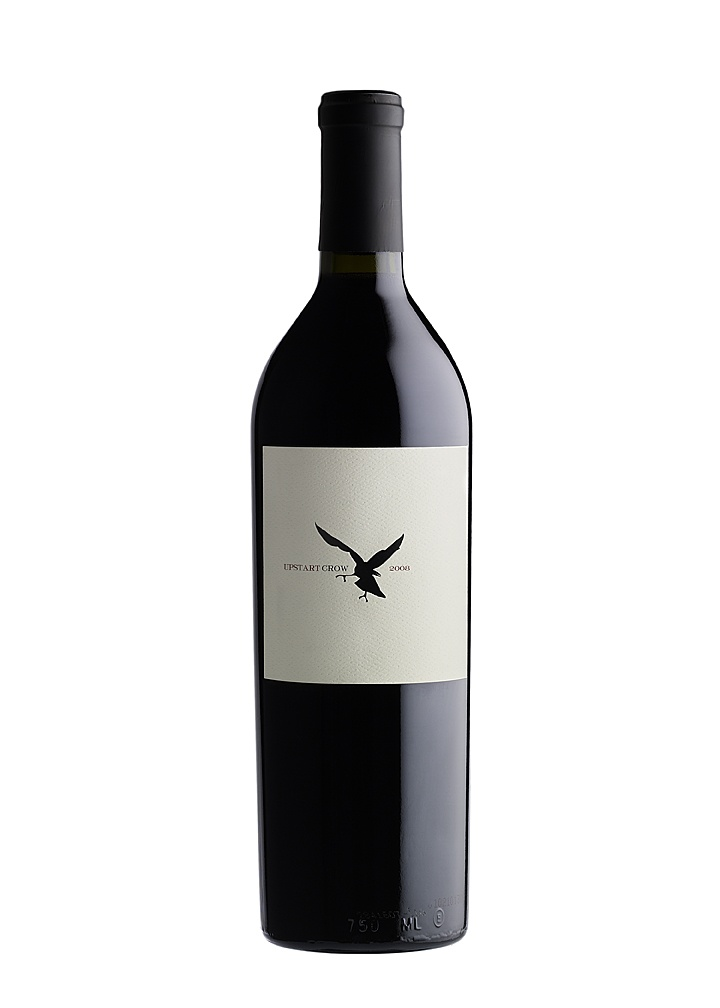 Upstart Crow 2008 Cabernet Sauvignon, Napa Valley.  Spit Bucket designed this underground wine label.