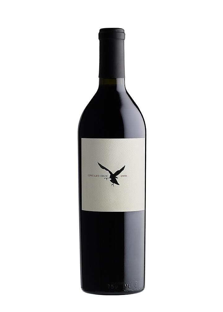 Upstart Crow 2008 Cabernet Sauvignon, Napa Valley.  Spit Bucket designed this underground wine label.