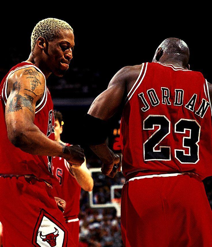 Dennis Rodman & Michael Jordan/ When they both played for the BULLS....Basketball Legends