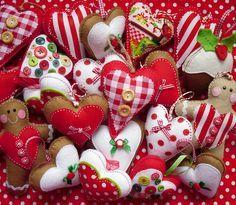 Felt and Fabric Hearts