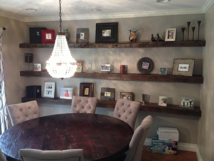 Reclaimed White Oak Floating Shelves. Reclaimed Barn WoodTiers ...