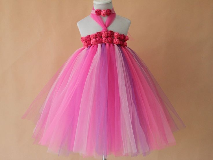 >> Click to Buy << Hot Lovely Baby Toddler Girls Lapel Princess Party Lace Tutu  red and hot pink flower princess dress #Affiliate