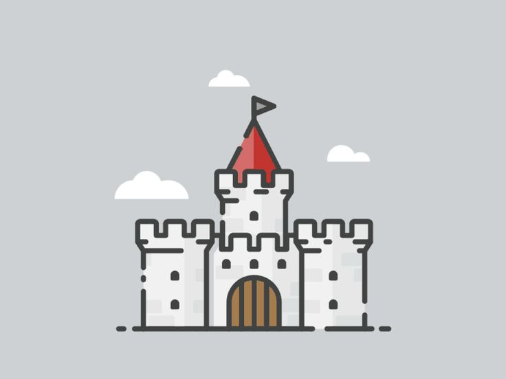 Castle outline illustration (animated version) | Popular ...