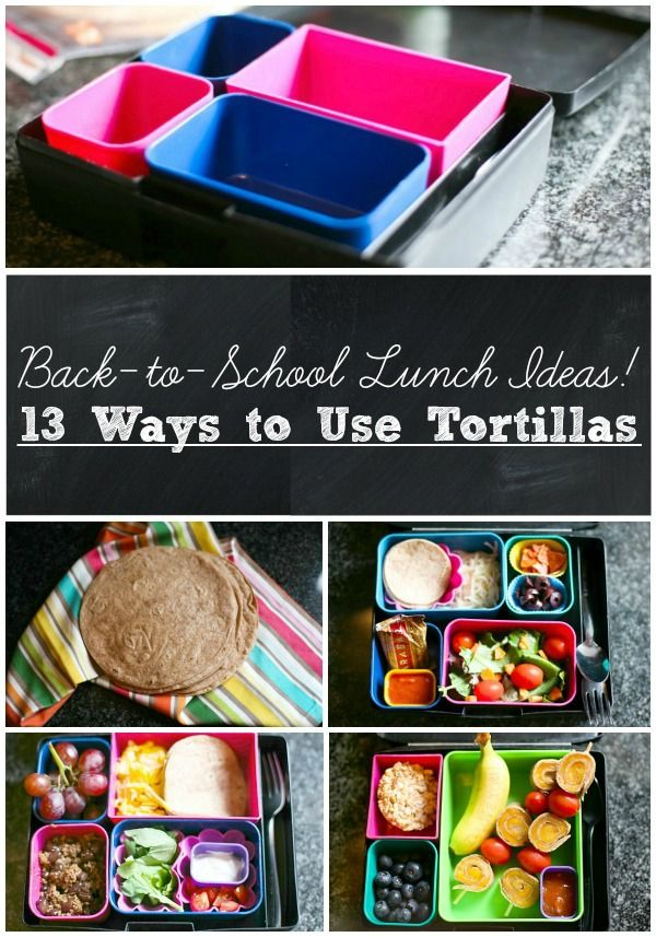No more boring school lunches! 13 fun ways to use tortillas in your lunch box from EvolvingMotherhood.com