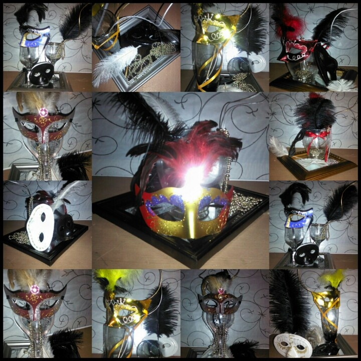 Masquerade Ball Prom Decorations: Masquerade Table Centerpieces