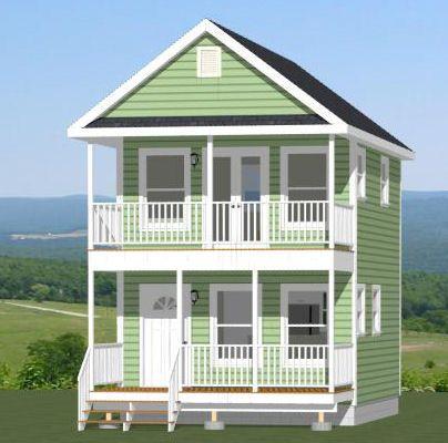 16x20 House -- #16X20H2 -- 569 sq ft - Excellent Floor Plans