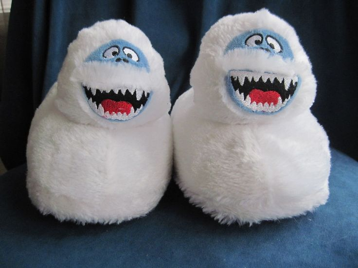 Rudolph BUMBLE Slippers ABOMINABLE SNOWMAN Island Misfit Toys  Sz L (9-10) Adult
