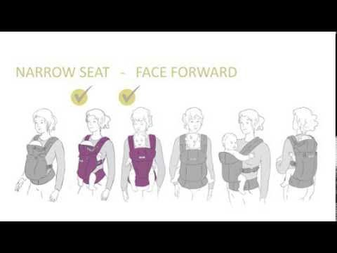 c3351d445ae lillebaby COMPLETE Baby Carrier - Adjust to Narrow Seat Instructions -  YouTube
