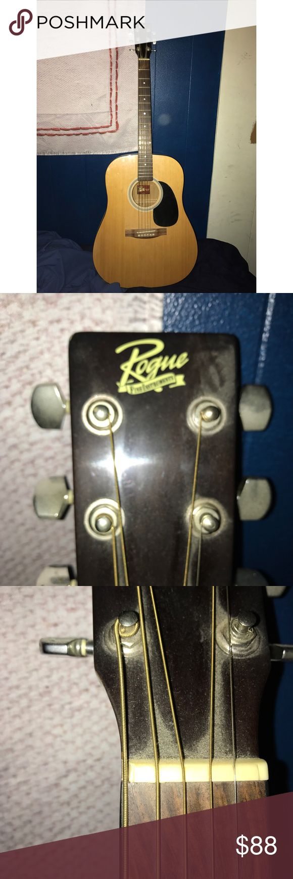 Rogue Acoustic Guitar In fairly good condition! Will need strings. Also a chip in the strip on the neck will need fixed. Other