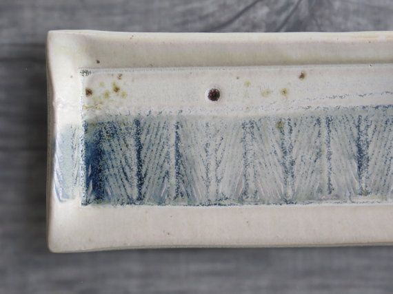 Ceramic tray ooak square plate for appetizers cheese by toscAnna